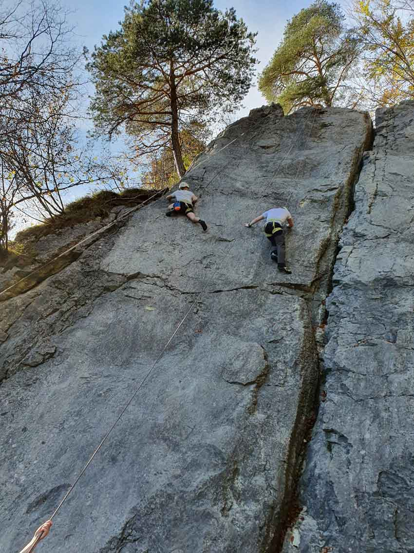 Rock climbing in Bavaria with NOCG