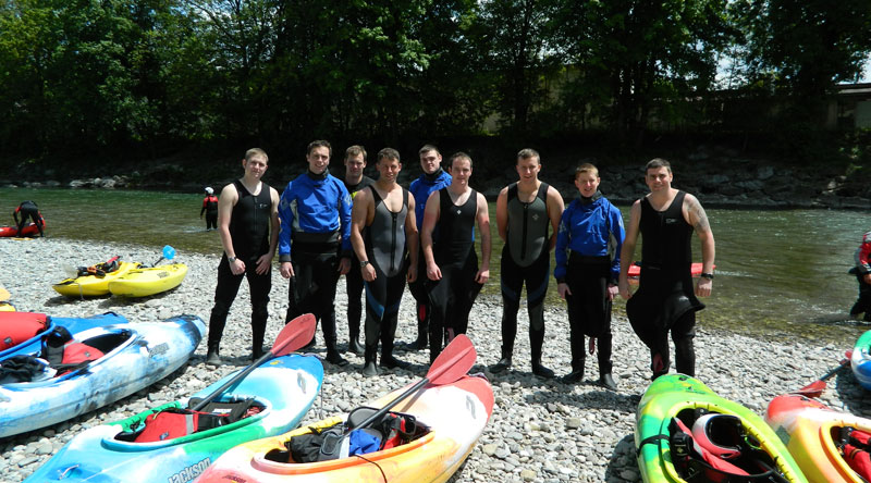 Group kayaking in the summer at NOCG